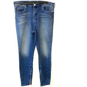 Blanknyc   High-Rise Skinny Ankle Zip Jeans